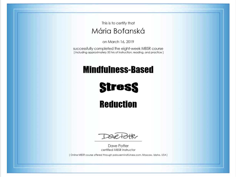 certifikat MBSR